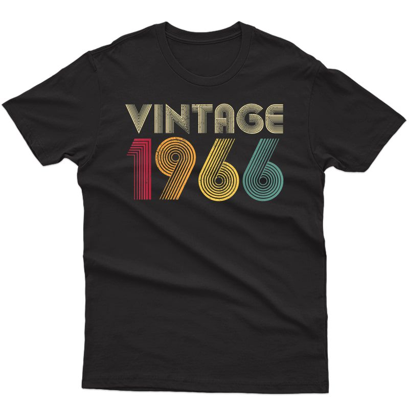 Vintage 1966 55th Birthday Gift Retro 55 Years Old T-shirt