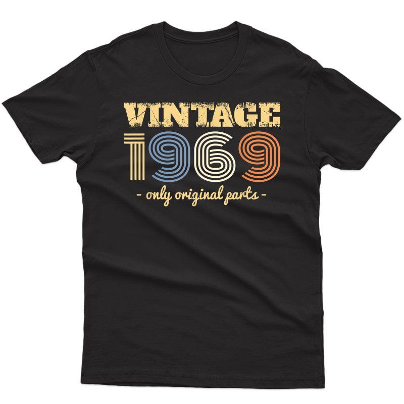 Vintage 1969 Birthday Gift T-shirt Tee