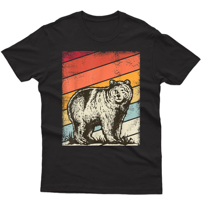 Vintage Bear Retro Graphic Grizzly Bears Gift , T-shirt