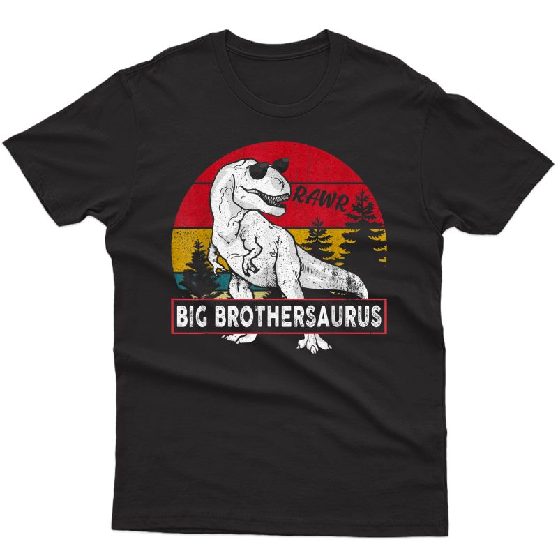Vintage Big Brothersaurus Shirt Brother Saurus Dinosaur Gift