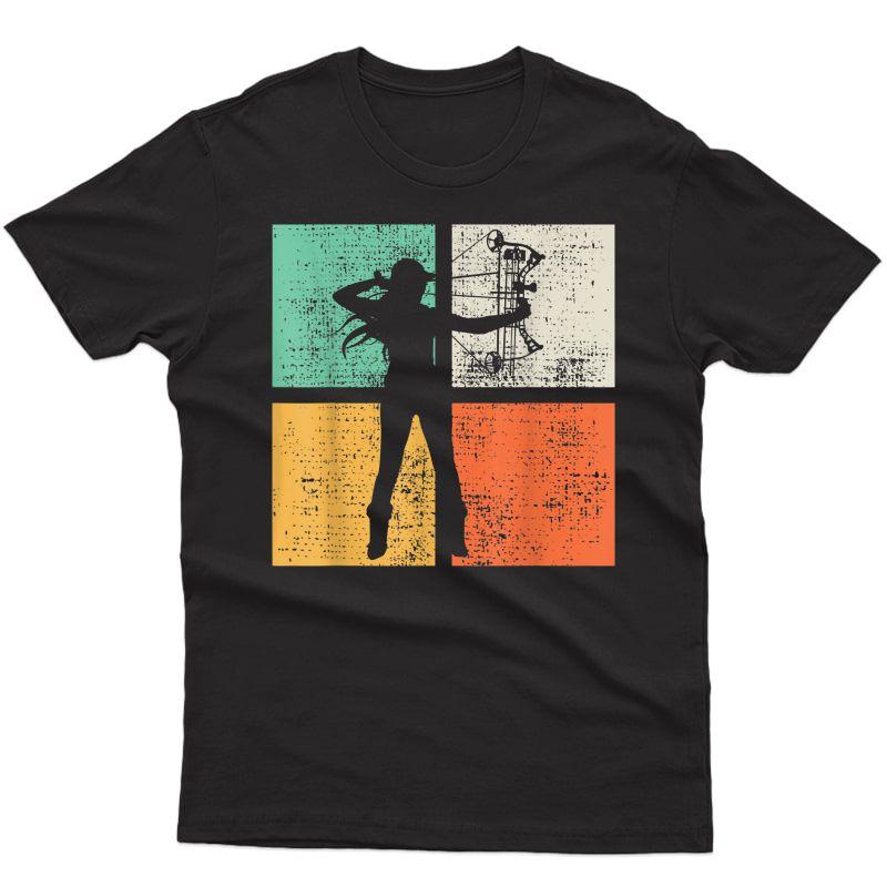 Vintage Bow Hunting T-shirt Ary Tshirt Woman Girl Tee