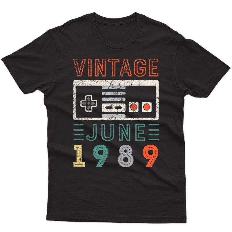 Vintage June 1989 Birthday Shirt