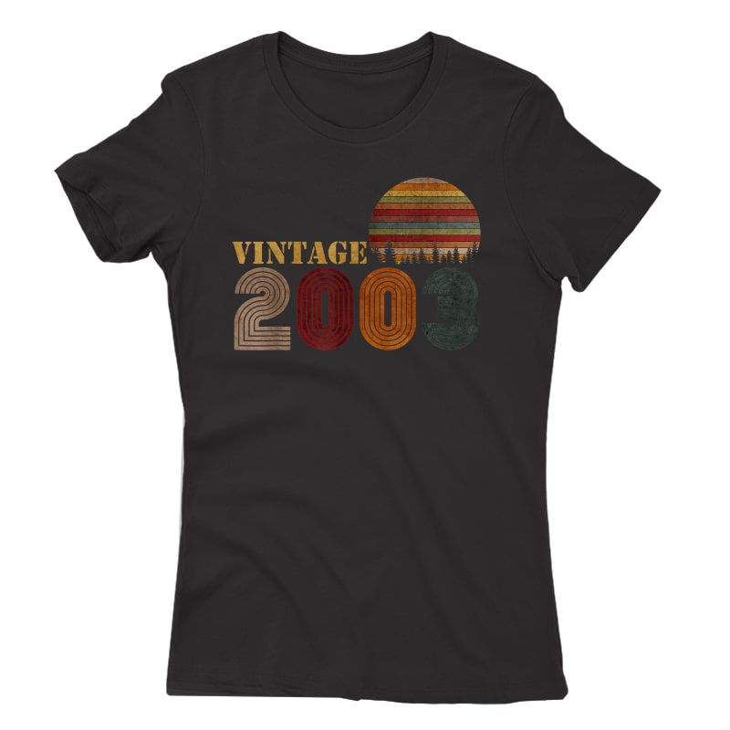 Vintage Retro 2003 T-shirt Birthday Gift