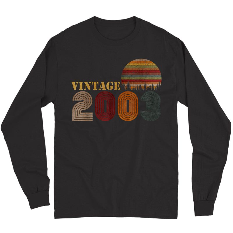 Vintage Retro 2003 T-shirt Birthday Gift Long Sleeve T-shirt