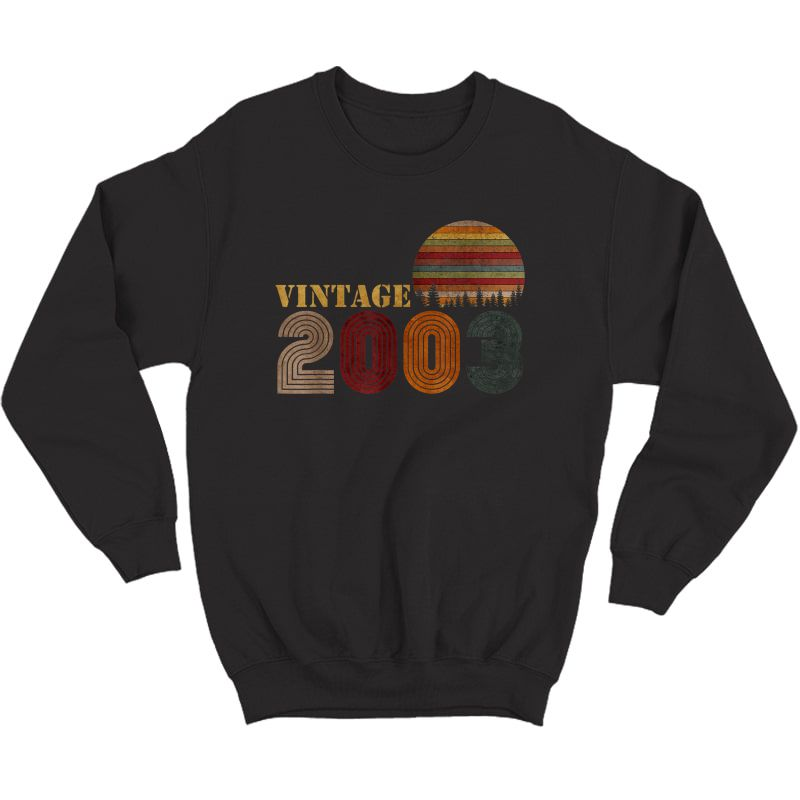 Vintage Retro 2003 T-shirt Birthday Gift Crewneck Sweater