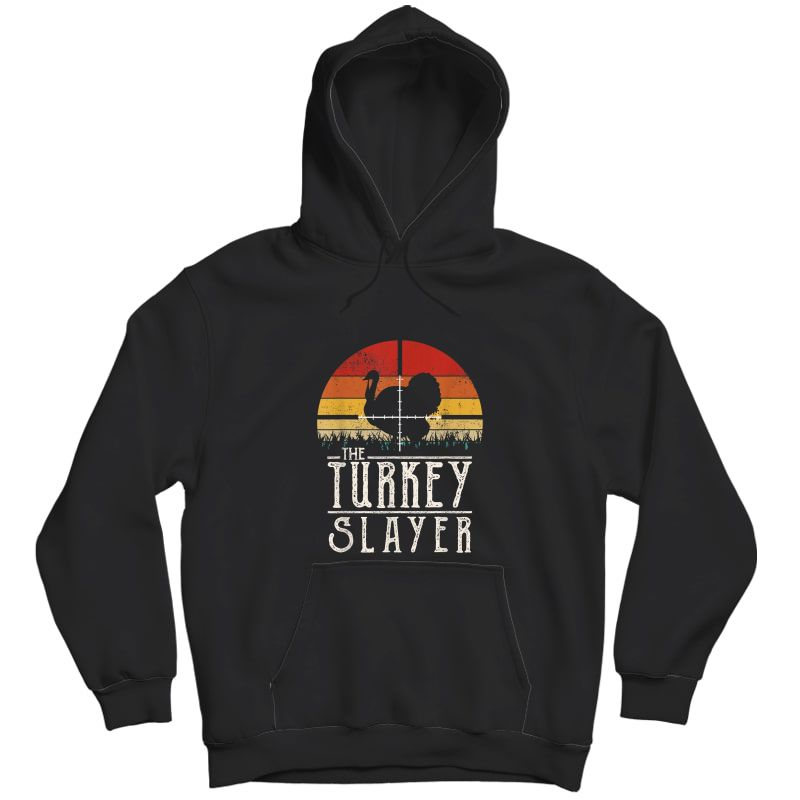 Vintage Sunset Retro Style Turkey Hunting Turkey Slayer T-shirt Unisex Pullover Hoodie