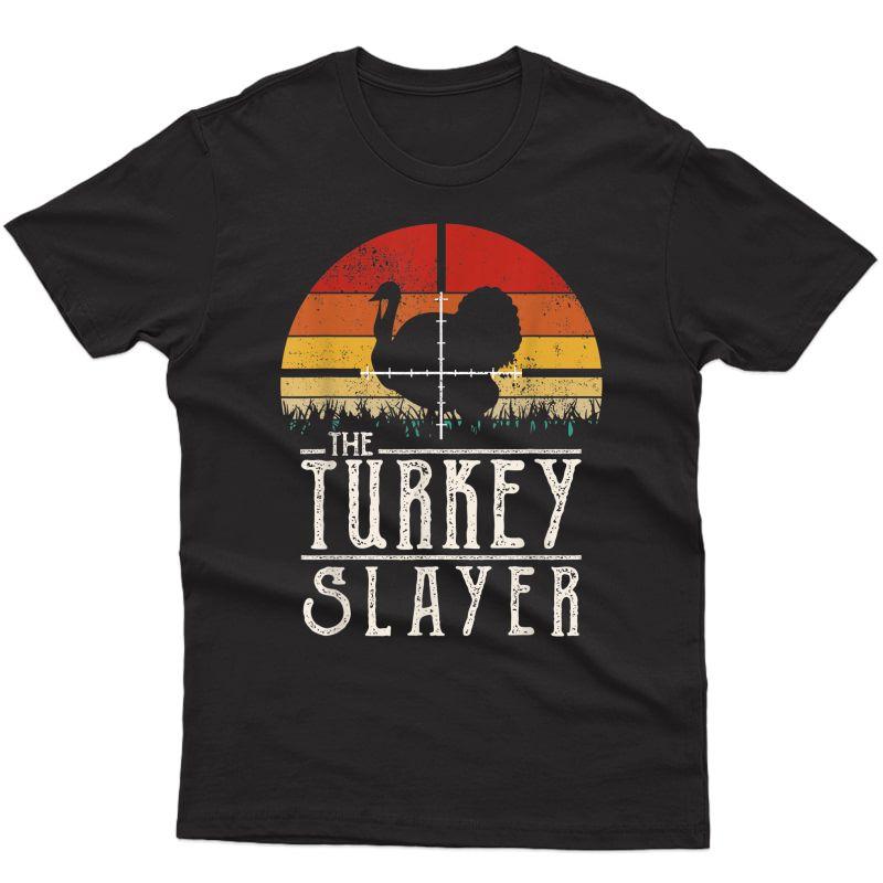 Vintage Sunset Retro Style Turkey Hunting Turkey Slayer T-shirt