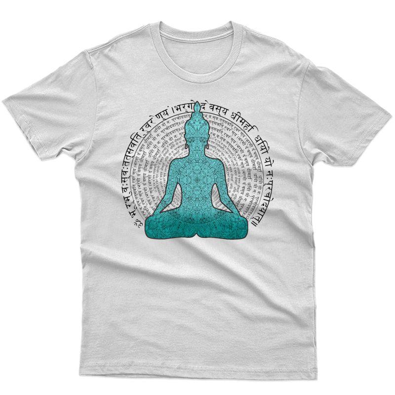 Sanskrit Gayatri Mantra Lotus Mandala Meditation Yoga Tank Top Shirts