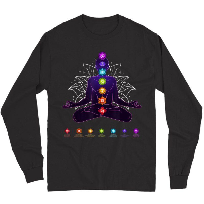 Yoga Chakra Spiritual Body System Meditation T-shirt Long Sleeve T-shirt