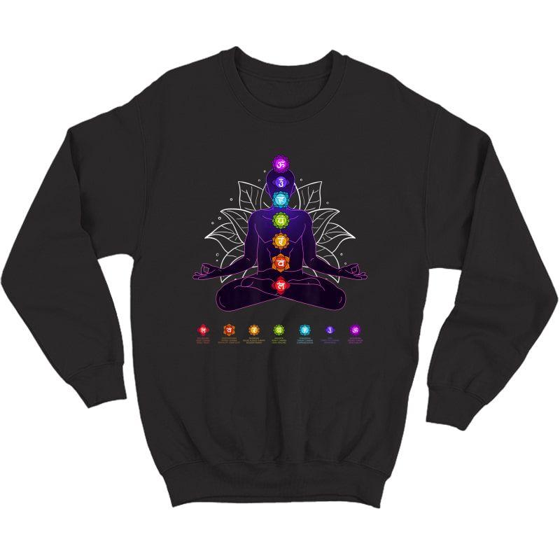 Yoga Chakra Spiritual Body System Meditation T-shirt Crewneck Sweater
