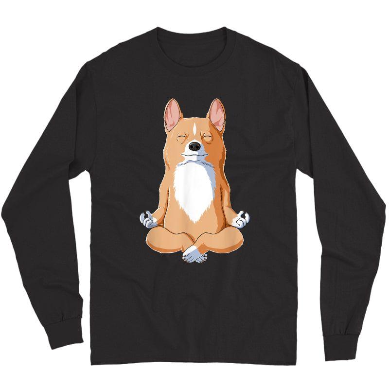 Yoga Corgi Dog T-shirt Long Sleeve T-shirt