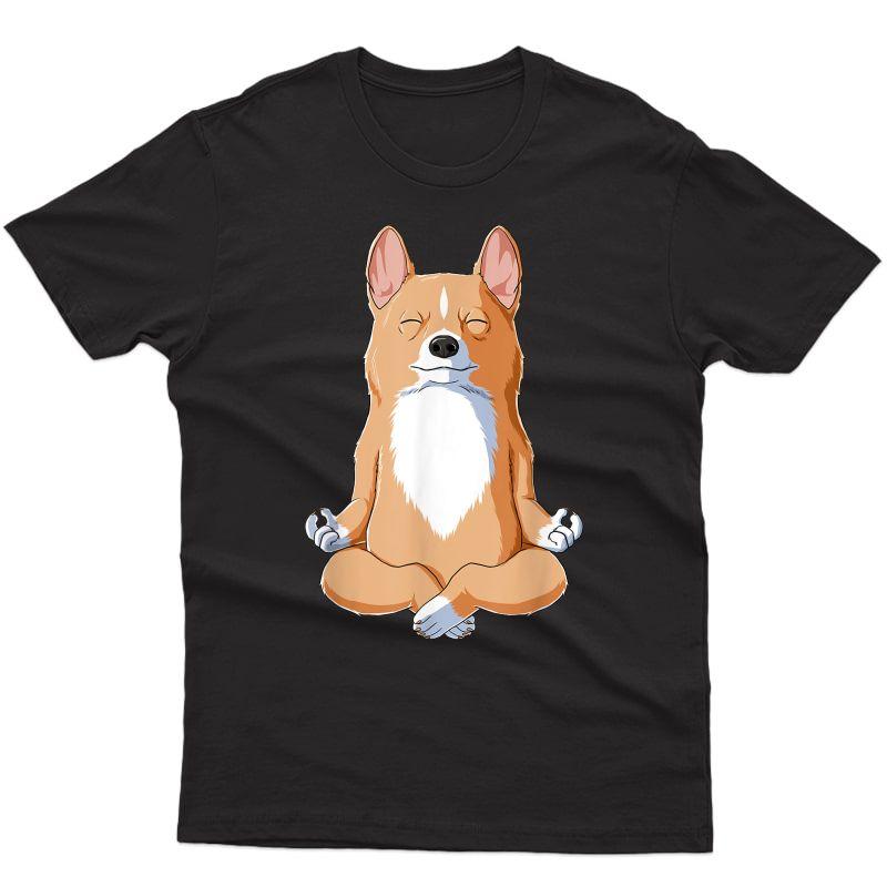 Yoga Corgi Dog T-shirt