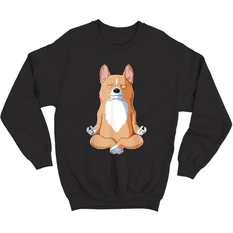 Yoga Corgi Dog T-shirt Crewneck Sweater