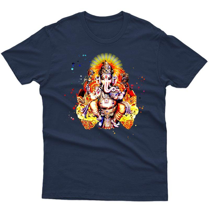 Yoga Shirts Spiritual Hindu God Ganesha T-shirt Meditation
